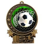 "3"" Full Color Soccer Medals"