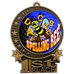 "3"" Full Color Spelling Bee Medals"