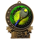 "3"" Full Color Tennis Medals"