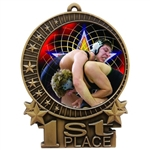 "3"" Full Color Wrestling Medals"