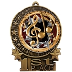 "3"" Burst Music Medals"