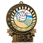 "3"" SUN Volleyball Medals"
