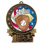 "3"" USA Softball Medals"