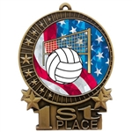 "3"" USA Volleyball Medals"