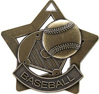 "2-1/4"" Star Series Baseball Medal XS204"