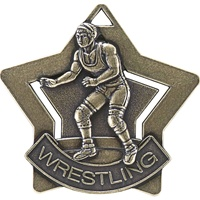 "2-1/4"" Star Series wrestling Medal XS208"