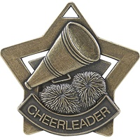 "2-1/4"" Star Series Cheer Medal XS215"