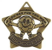 "2-1/4"" Star Series Kids FUN Soccer Medal XS217"
