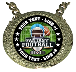 Personalized Fantasy Football Champion Champ Chain