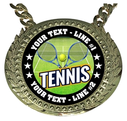 Personalized Tennis Champion Champ Chain