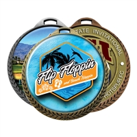 "2-1/4""  Medals w/ 2"" Full-Color Custom Insert sl-024a"