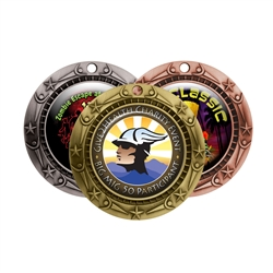 "3"" WCM Medals w/ (2"" Full Color CUSTOM Poly Dome Insert)"